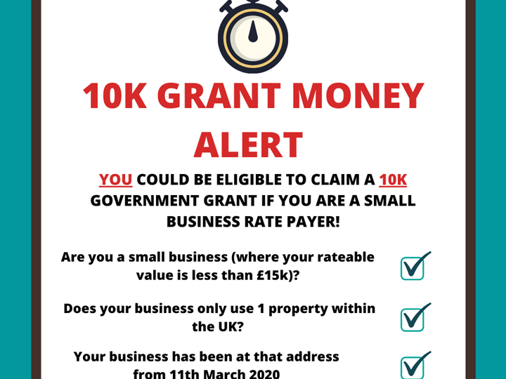 Covid-19 Support - Are you eligible to claim a 10k governemt grant?