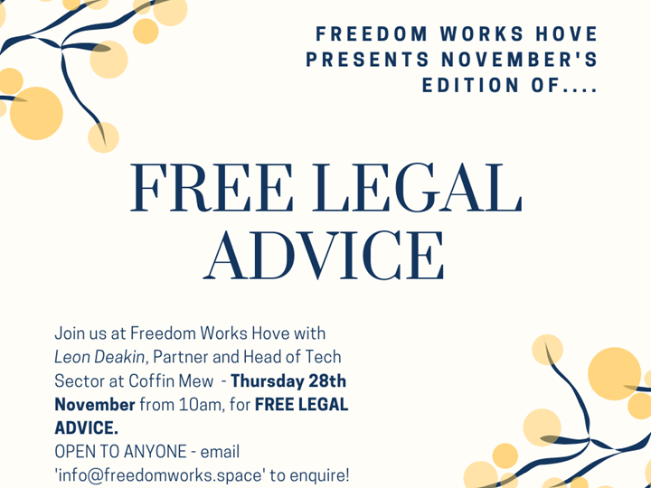 Free Legal Advice with Coffin Mew - November Edition