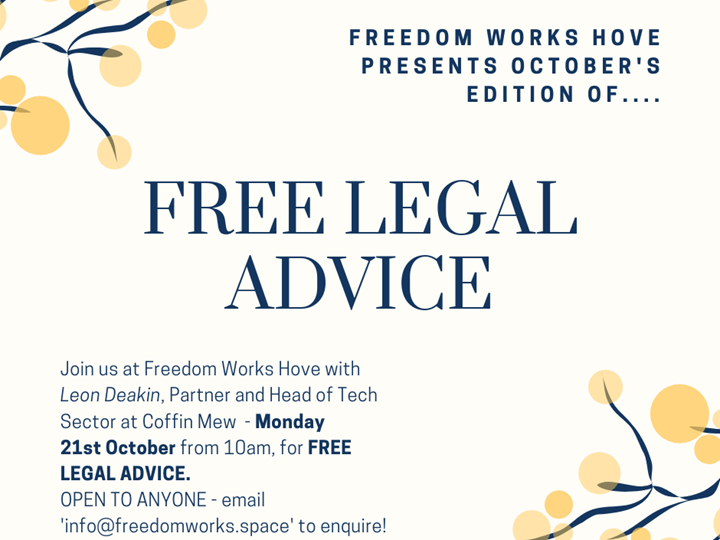 Free Legal Advice with Coffin Mew - October Edition
