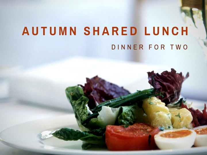 AUTUMN SHARED LUNCH - Wednesday, 24th October - 12.30 - 2.00pm